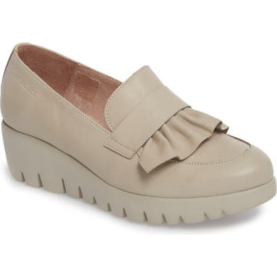 Wonders Loafer Wedge, Grey