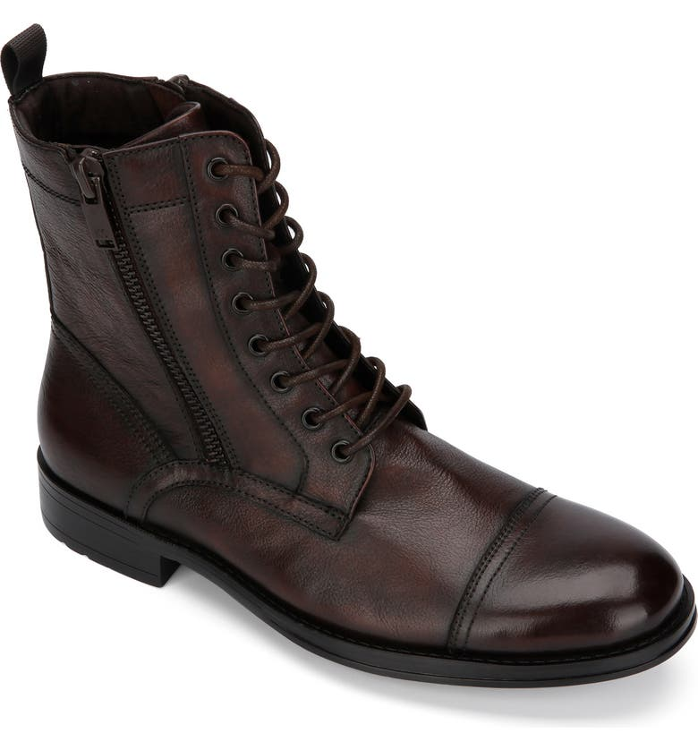 KENNETH COLE NEW YORK Hugh Cap Toe Boot, Main, color, BROWN