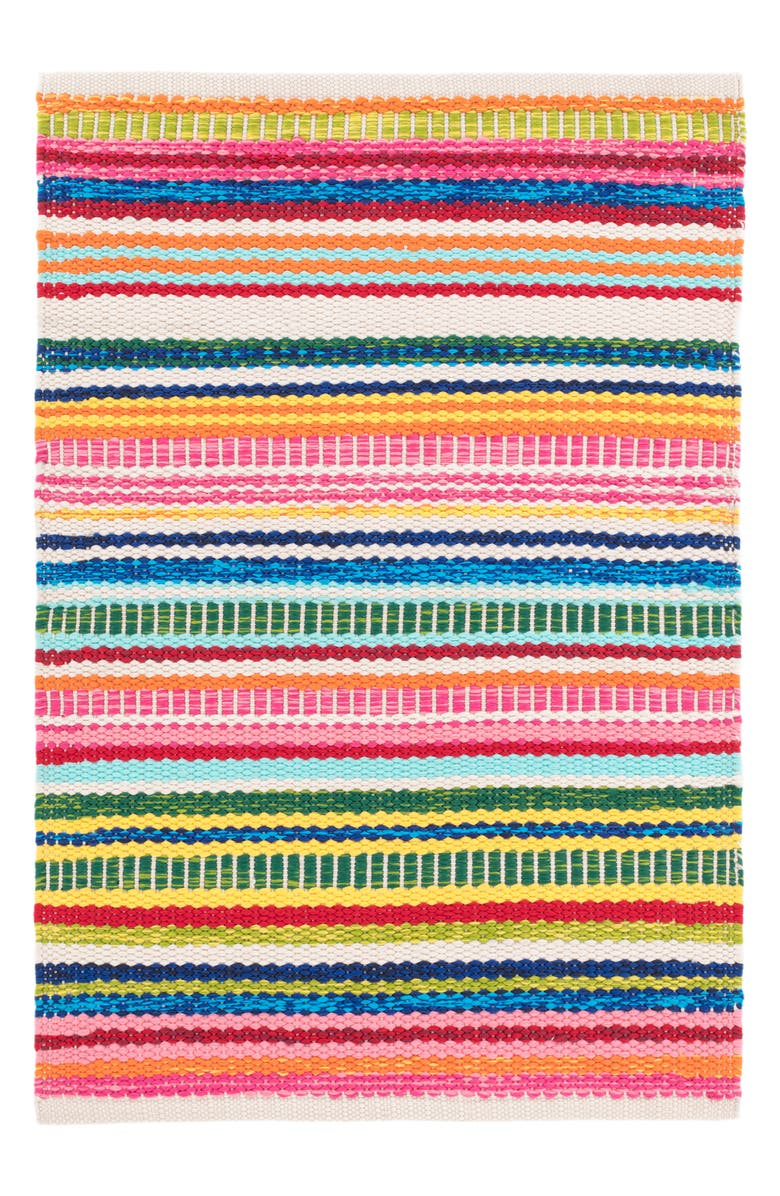 DASH & ALBERT Bright Stripe Indoor/Outdoor Rug, Main, color, MULTI