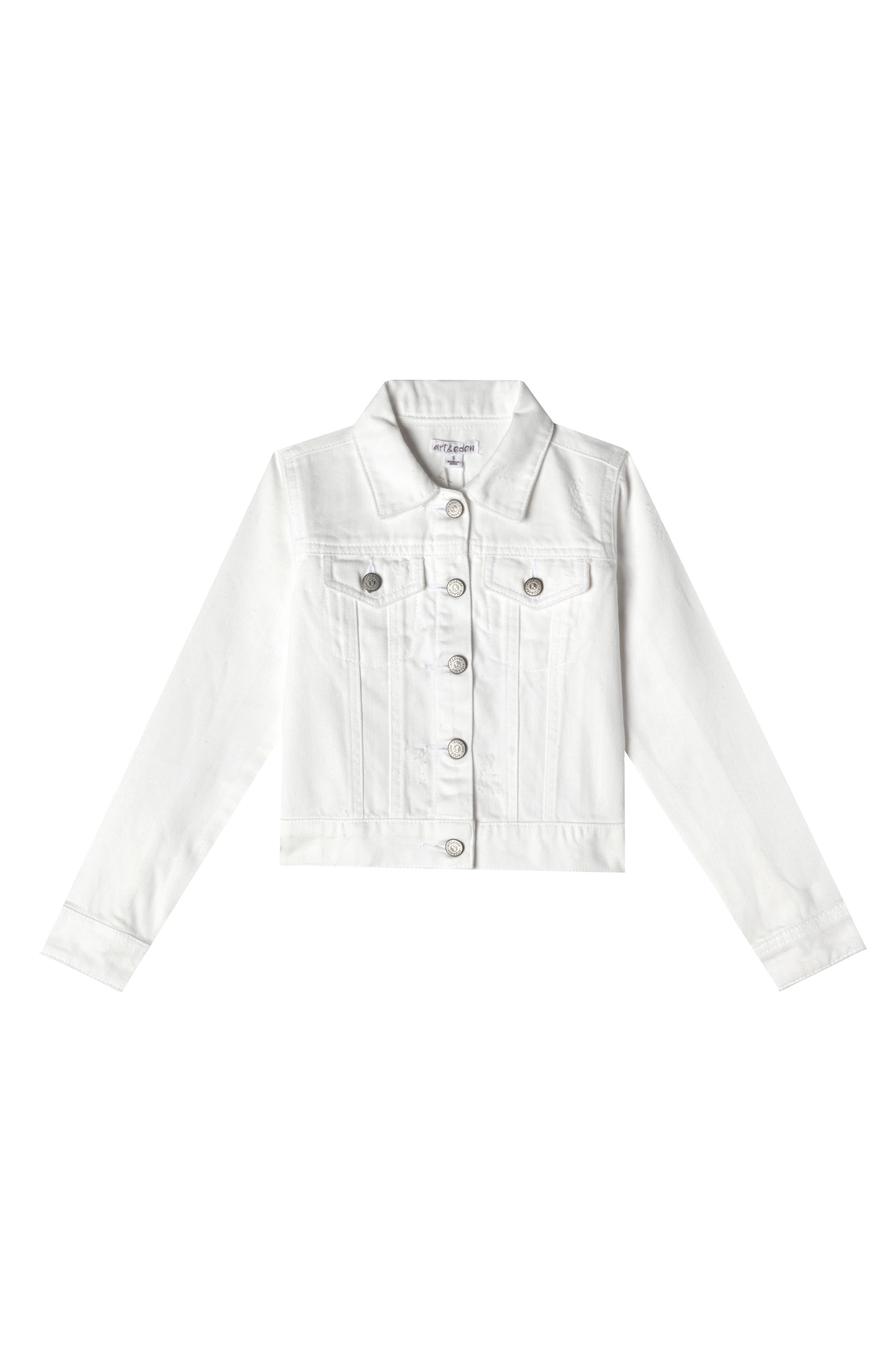 Nalia Denim Jacket, Main, color, WHITE WASH