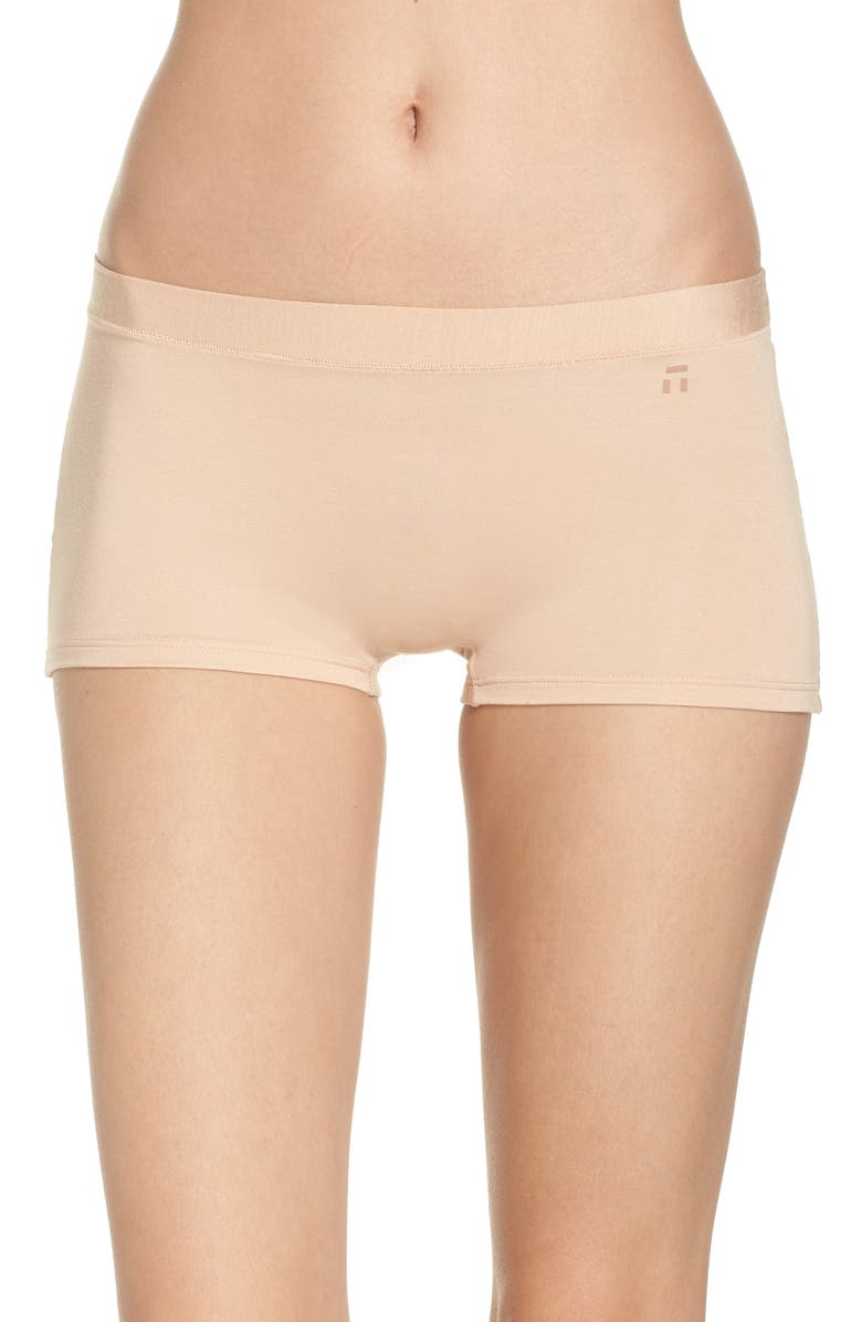 TOMMY JOHN Second Skin Boyshorts, Main, color, MAPLE SUGAR