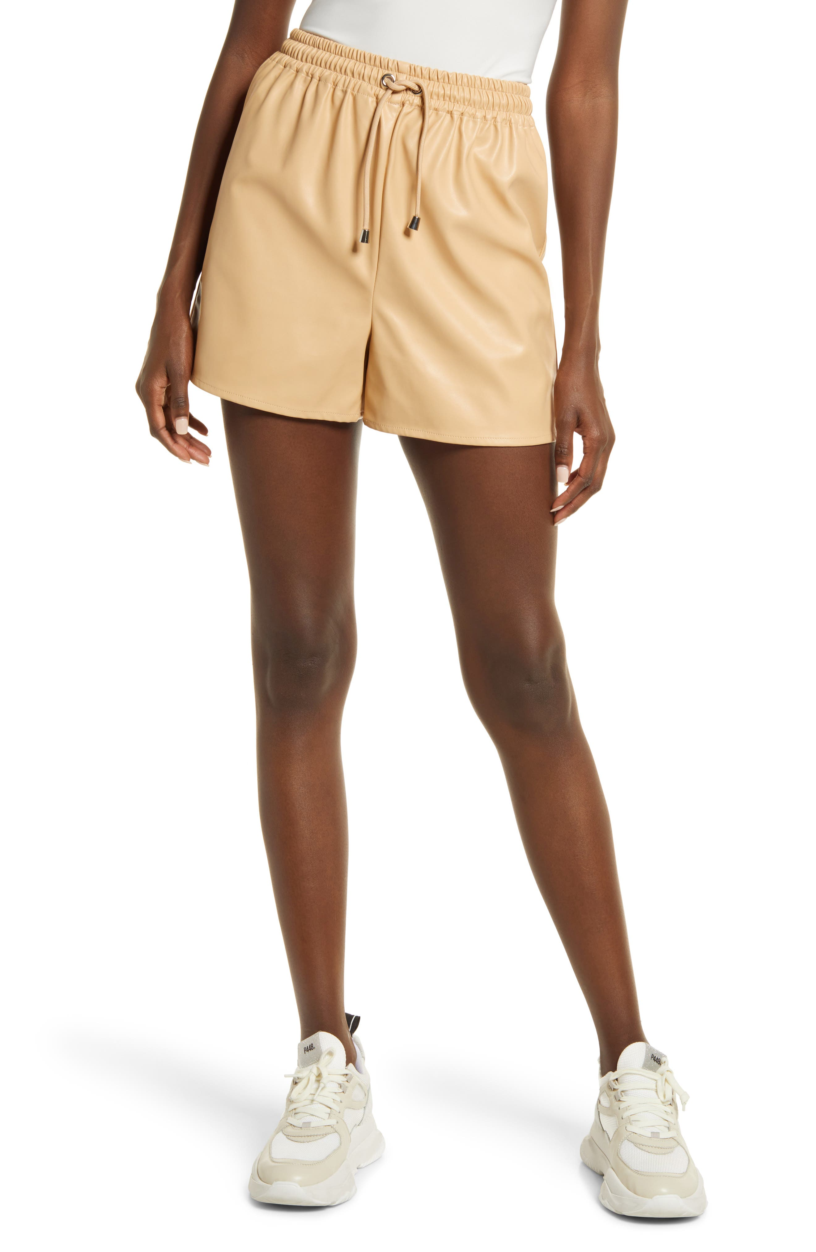 Women's Kendall + Kylie Faux Leather Shorts