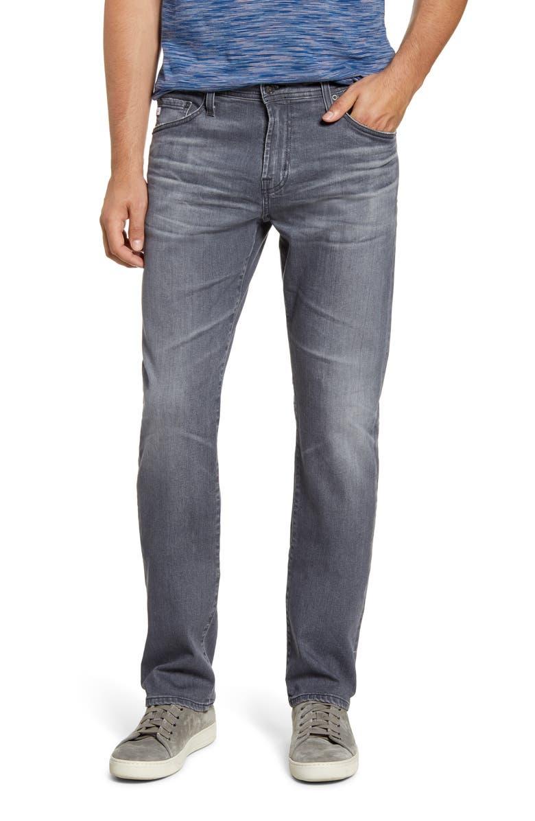 AG Everett Slim Straight Leg Jeans, Main, color, 10 YEARS AGENT