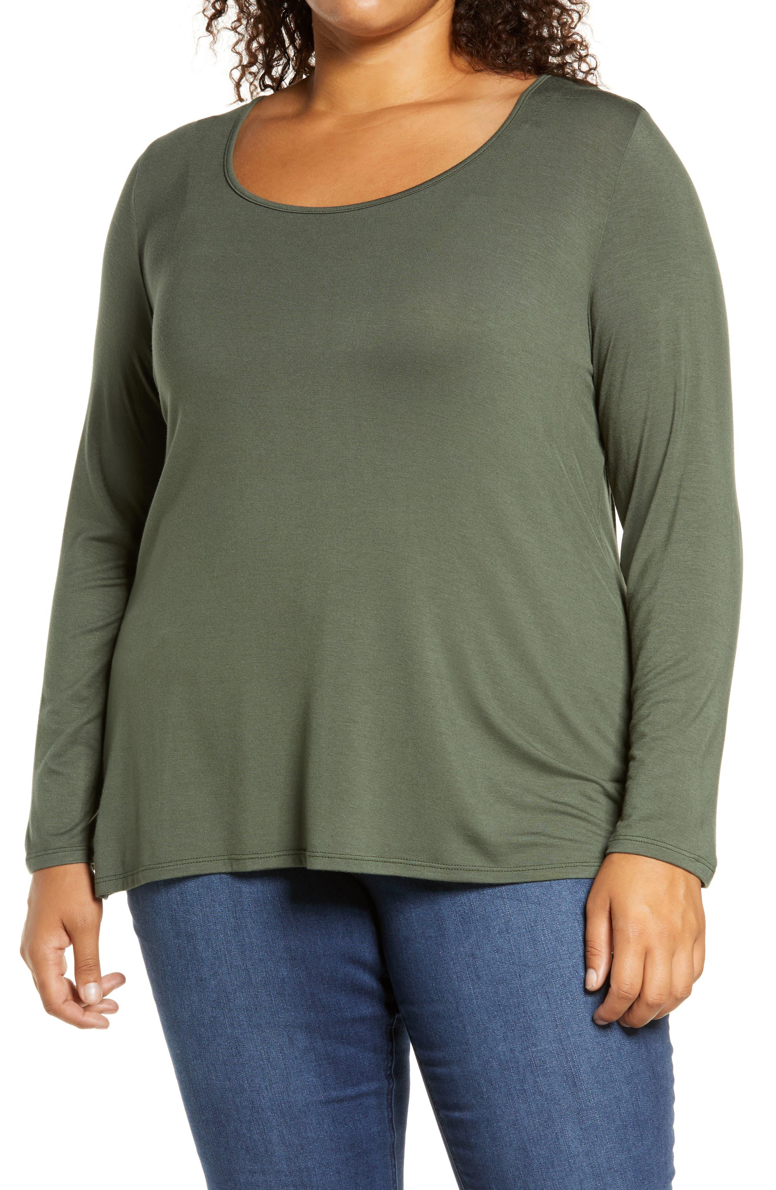 Plus Size Women's Loveapella Twist Back Top