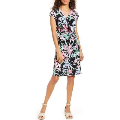 Tommy Bahama Orchid Isle Faux Wrap Dress, Black