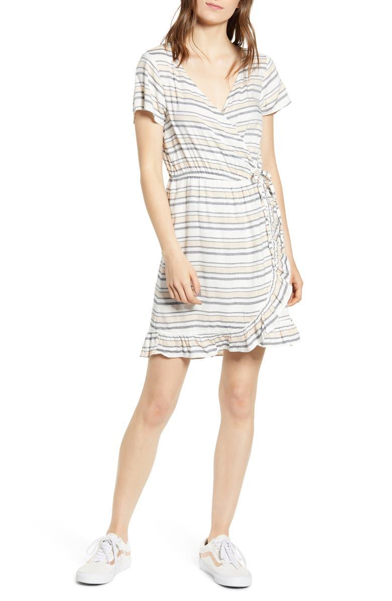 ROXY Sun Dreamer Ruffle Trim Minidress, Main, color, 400
