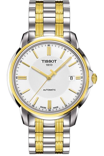 Image of Tissot Men's Automatics III Date Two-Tone Bracelet Watch, 39mm