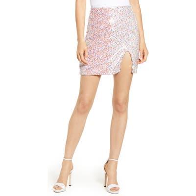 Endless Rose Confetti Miniskirt, Red