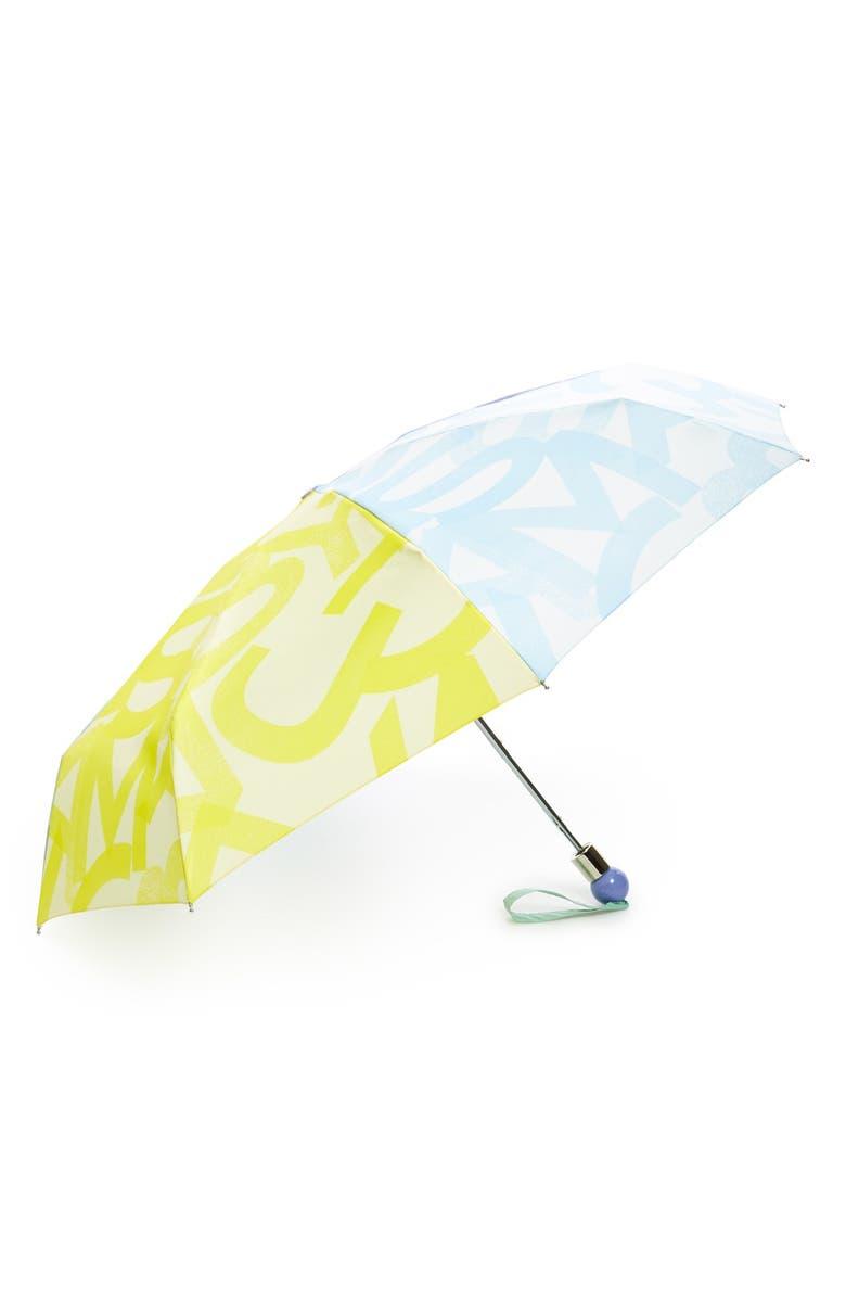 MARC JACOBS MARC BY MARC JACOBS 'Tissue Logo' Umbrella, Main, color, 700