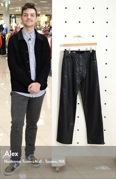 The Tomas High Waist Wide Leg Coated Jeans, sales video thumbnail