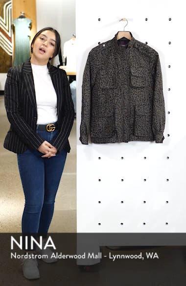 Leopard Print Cargo Jacket, sales video thumbnail