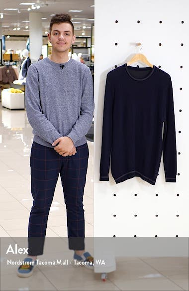 Slim Fit Tipped Crewneck Sweater, sales video thumbnail