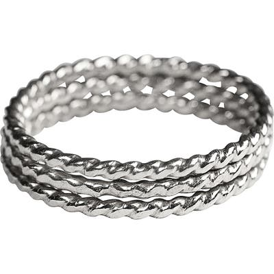 Nashelle 3-Pack Twisted Stacking Rings
