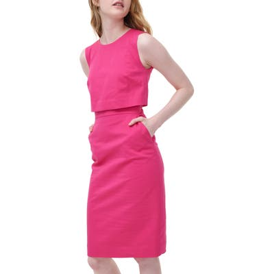 J.crew Going Places Cotton Dress, Pink