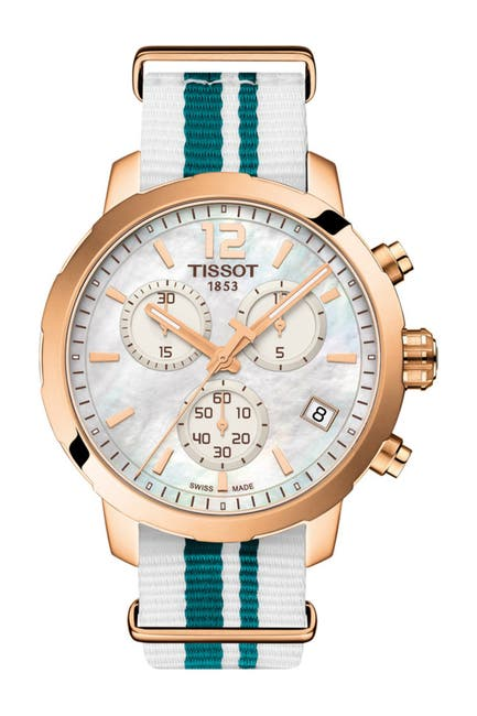 Image of Tissot Unisex Quickster NATO Chronograph Watch, 42mm