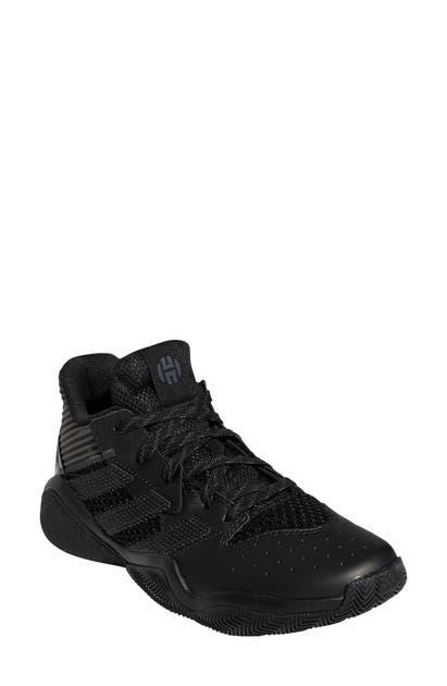 Adidas Originals Adidas Boys' Big Kids' Harden Step-back Basketball Shoes In Core Black/ Grey Six