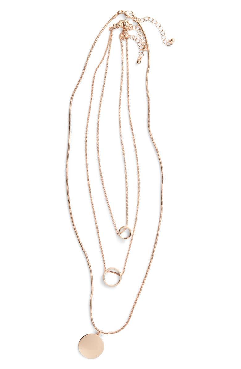 BP. 3-Pack Circle Pendant Necklaces, Main, color, 710