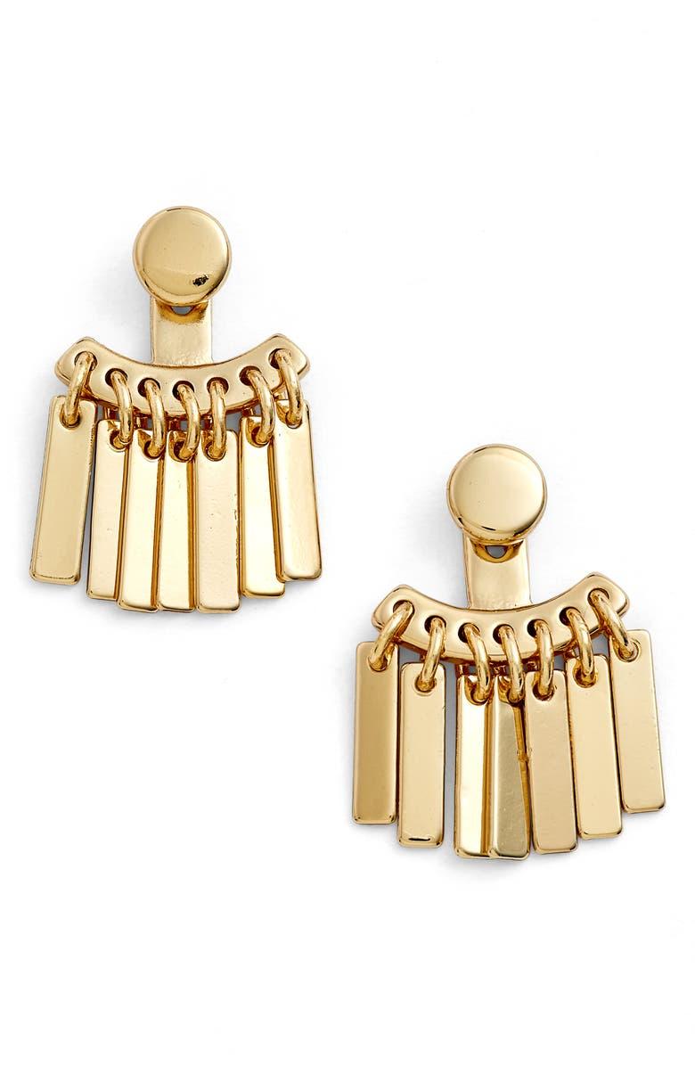 JENNY BIRD Raya Ear Jackets, Main, color, GOLD