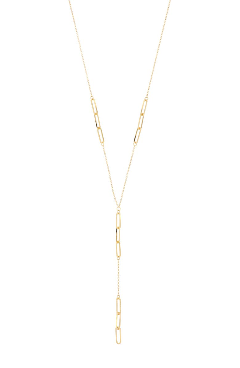 BONY LEVY 14K Gold Dangling Y-Necklace, Main, color, YELLOW GOLD
