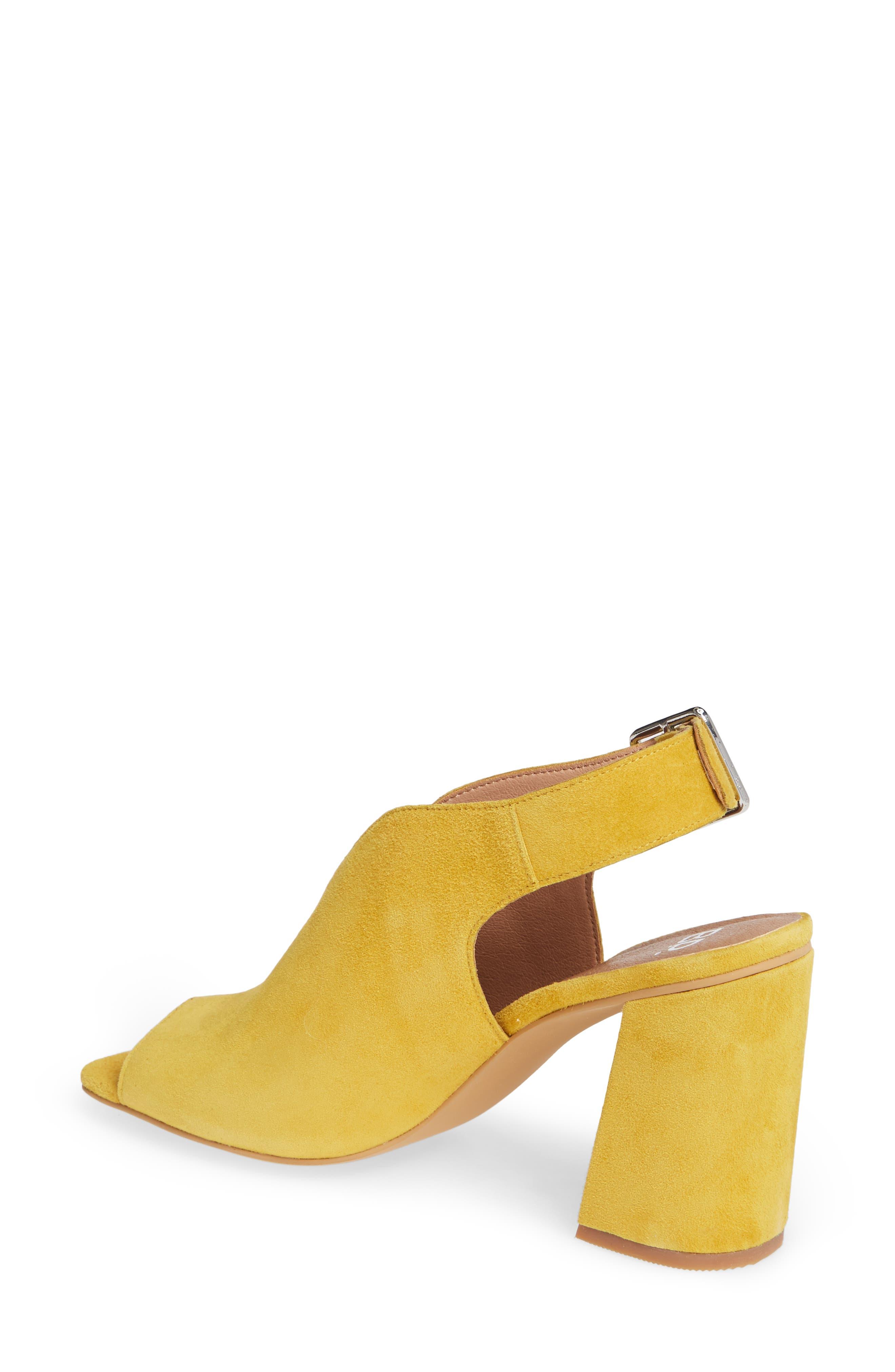 ,                             Block Heel Sandal,                             Alternate thumbnail 2, color,                             YELLOW SUEDE