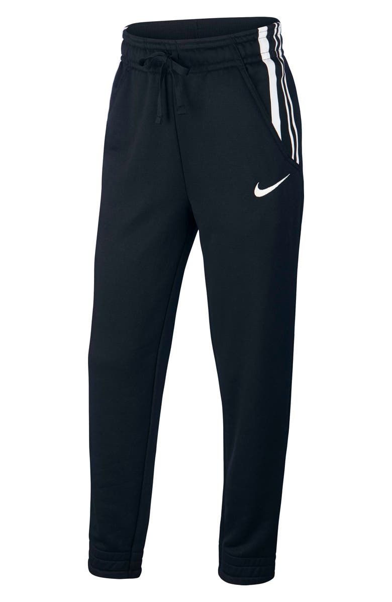 NIKE Dry Studio Training Pants, Main, color, BLACK/ METALLIC SILVER