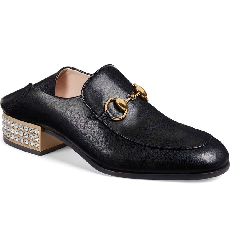 GUCCI Mister Crystal Convertible Loafer, Main, color, 001