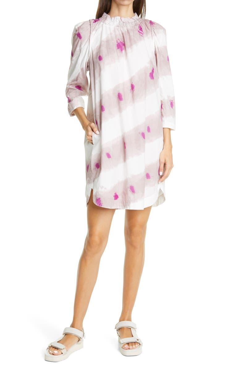 SEA Tamara Tie Dye Tunic Dress, Main, color, FUCHSIA
