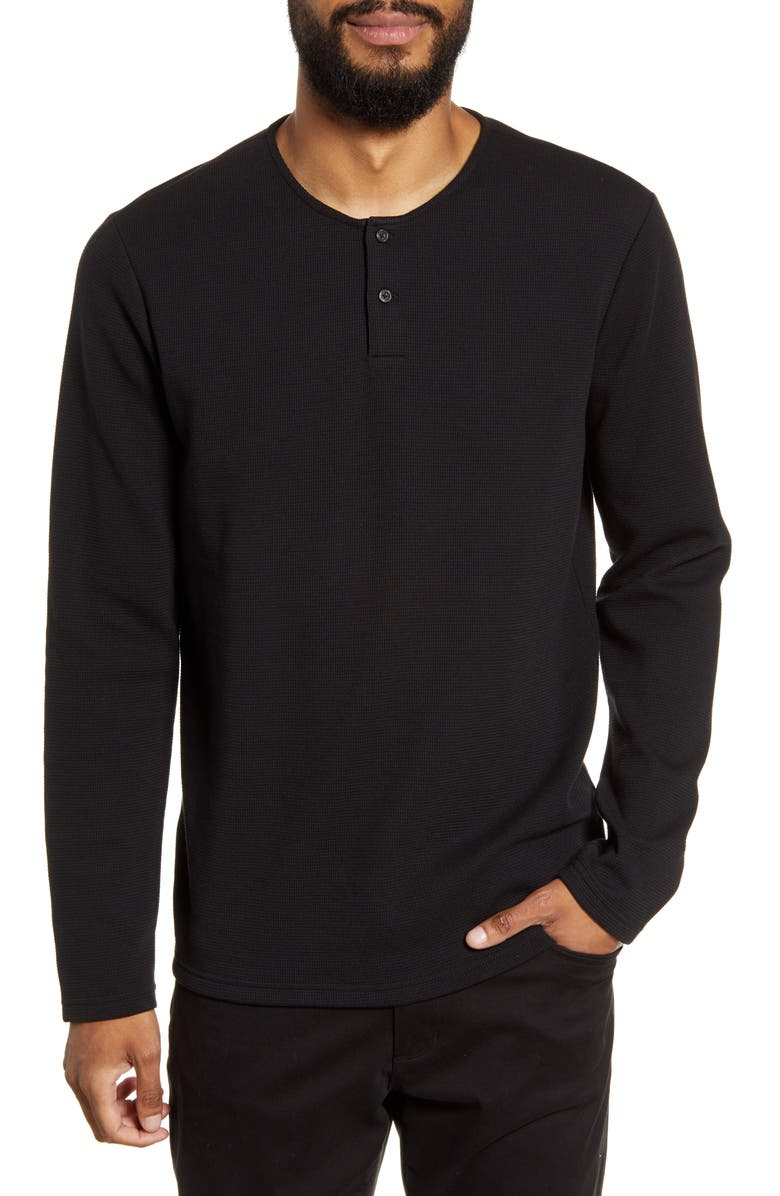 CALIBRATE Long Sleeve Henley T-Shirt, Main, color, 001