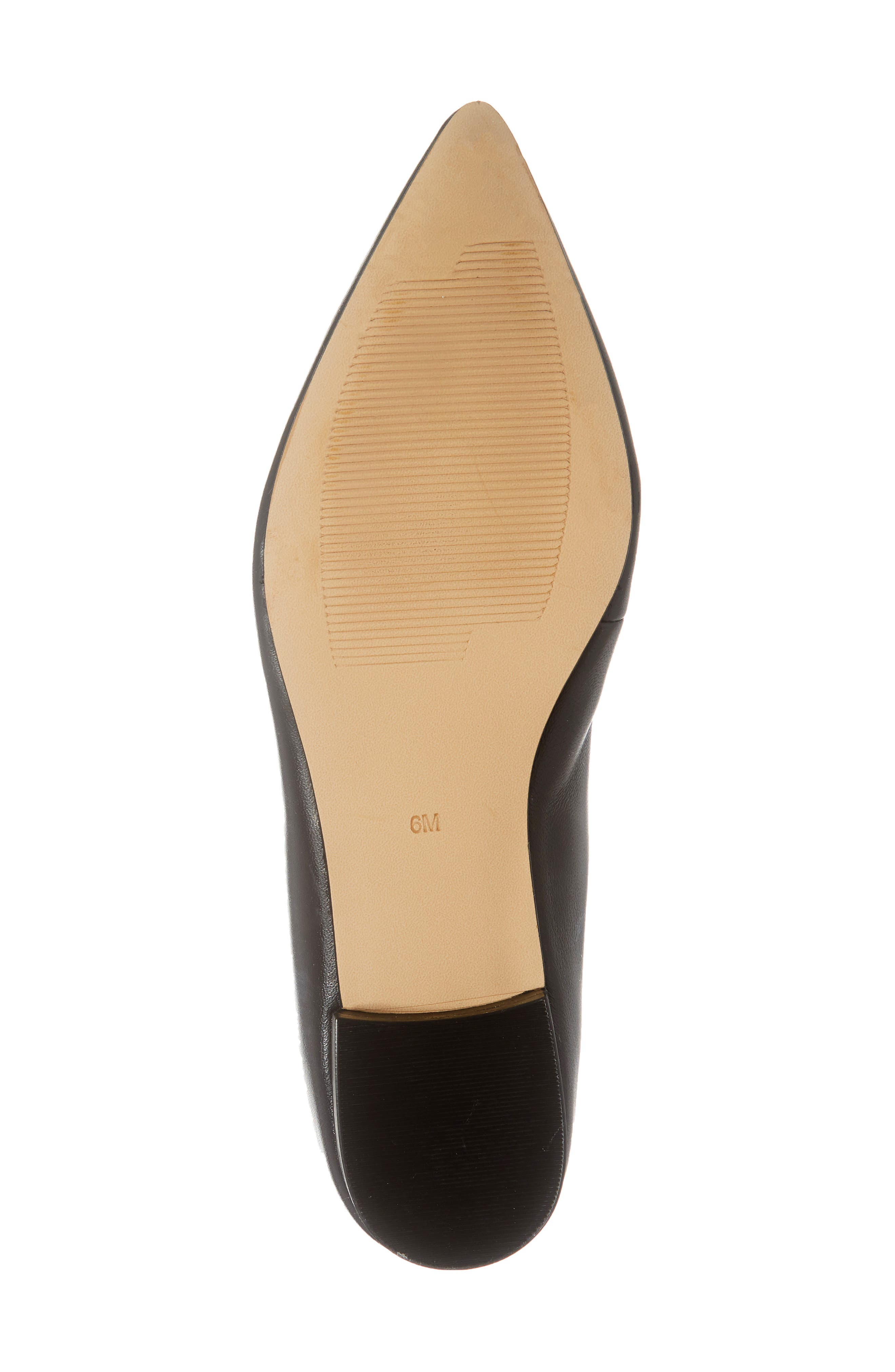 ,                             Kendra Pointy Toe Loafer,                             Alternate thumbnail 6, color,                             BLACK LEATHER