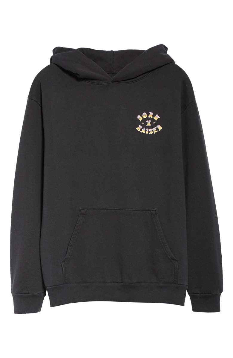 BORN X RAISED Sunset Rocker Hoodie, Main, color, BLACK