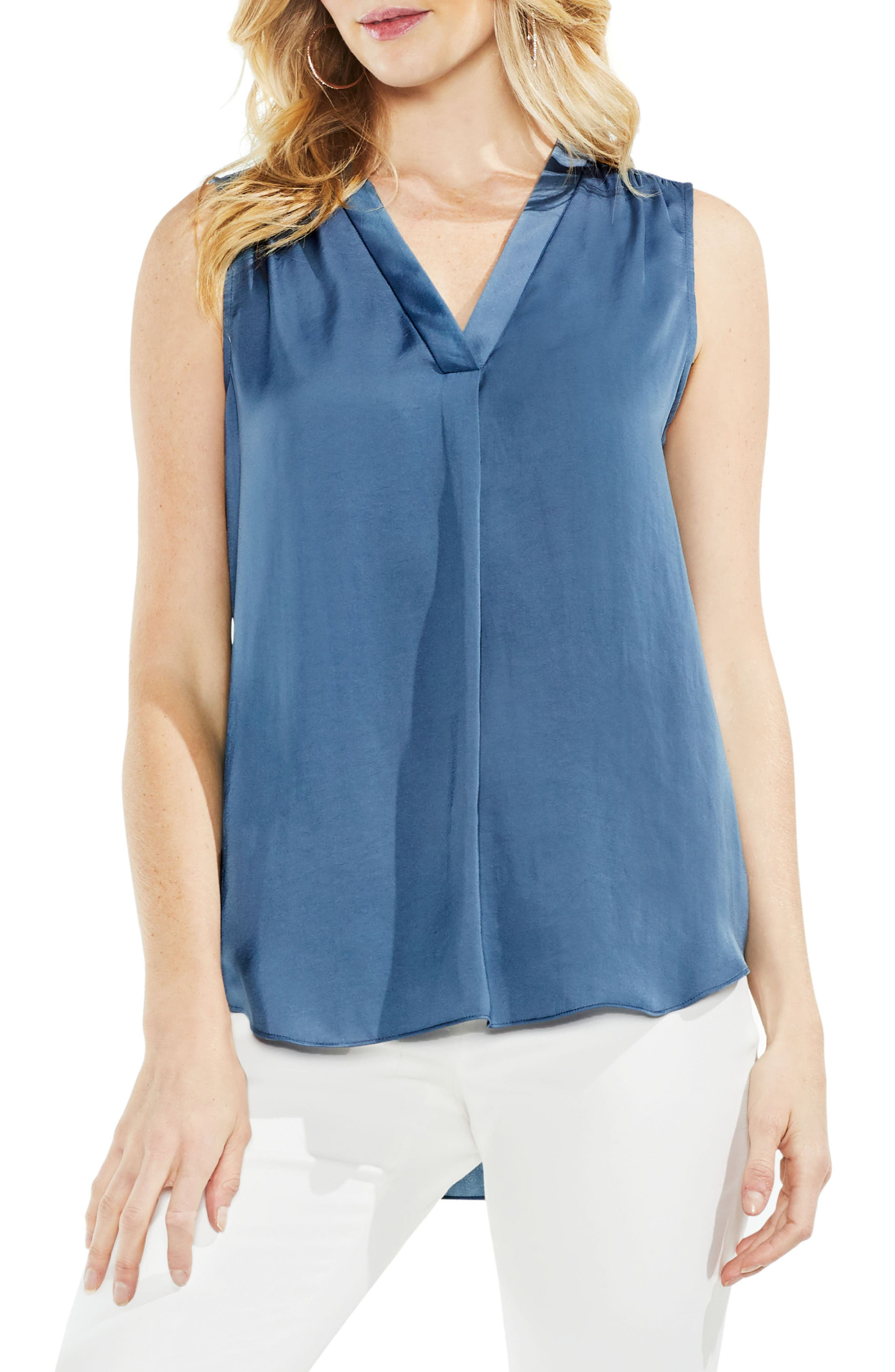 ,                             Rumpled Satin Blouse,                             Main thumbnail 161, color,                             404