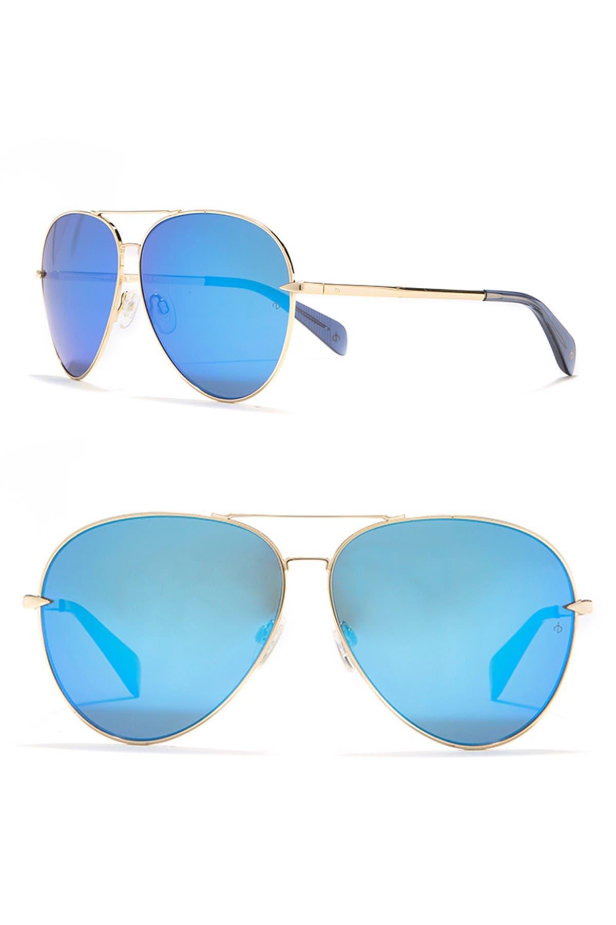 Image of Rag & Bone 62mm Aviator Sunglasses