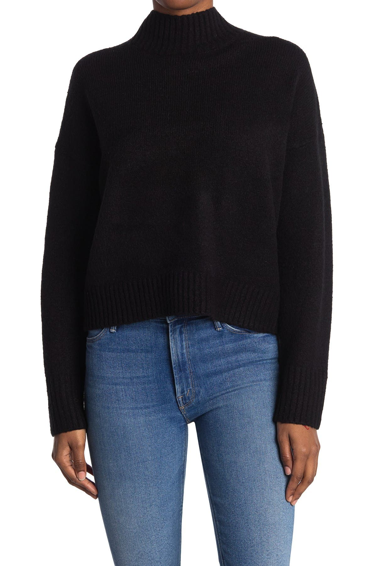 Image of Double Zero Straight Fit Mock Neck Sweater