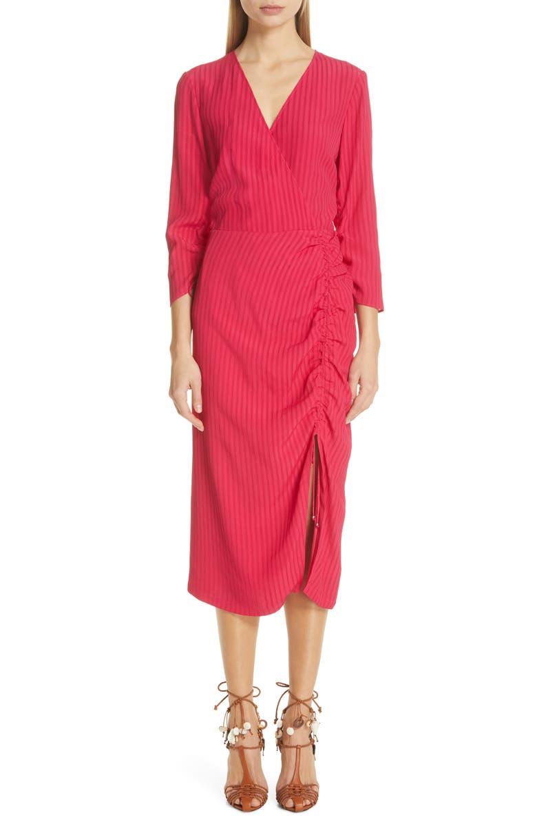 ALTUZARRA Stripe Ruched Dress, Main, color, 650