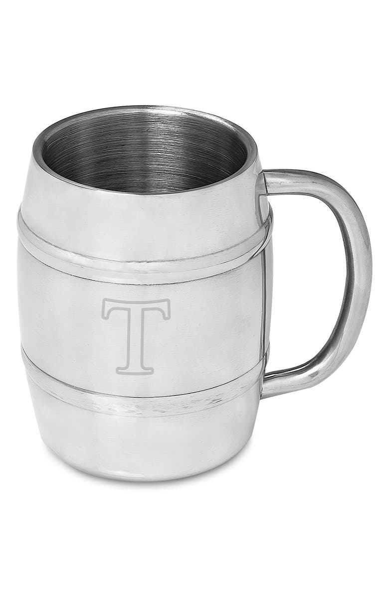 CATHY'S CONCEPTS Monogram Stainless Steel Keg Mug, Main, color, 040