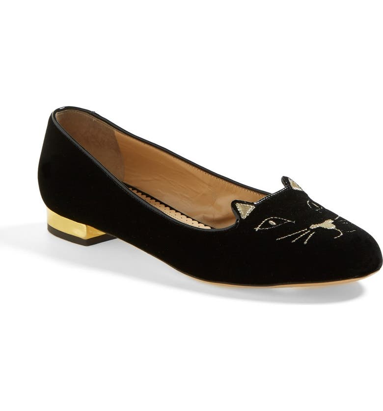 CHARLOTTE OLYMPIA 'Kitty' Flat, Main, color, 002
