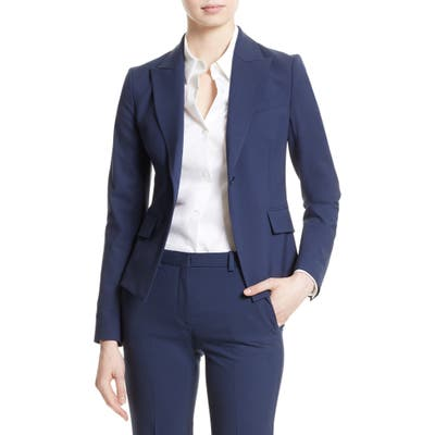 Theory Brince B Good Wool Suit Jacket, Blue (Nordstrom Exclusive)
