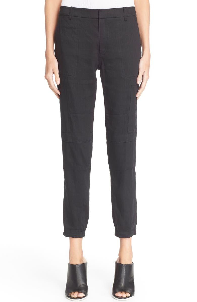 VINCE Linen Blend Cargo Pants, Main, color, 001
