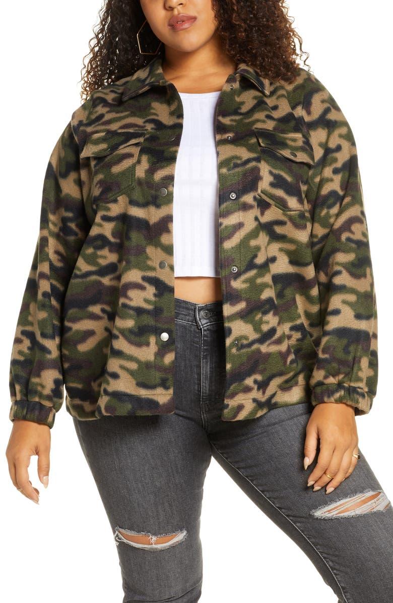 BP. Fleece Camo Jacket, Main, color, OLIVE ITALY CAMO
