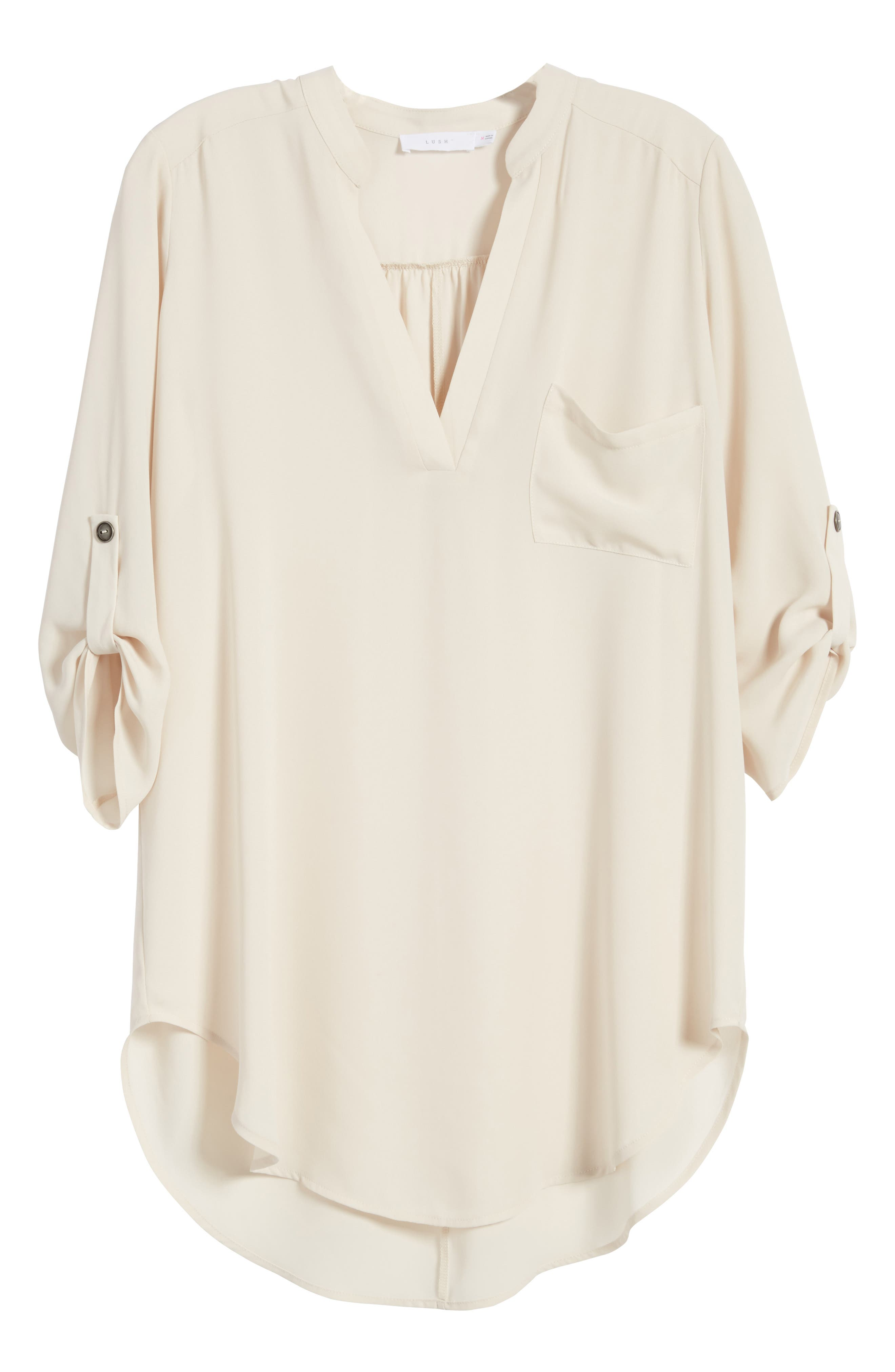 ,                             Perfect Roll Tab Sleeve Tunic,                             Alternate thumbnail 236, color,                             252
