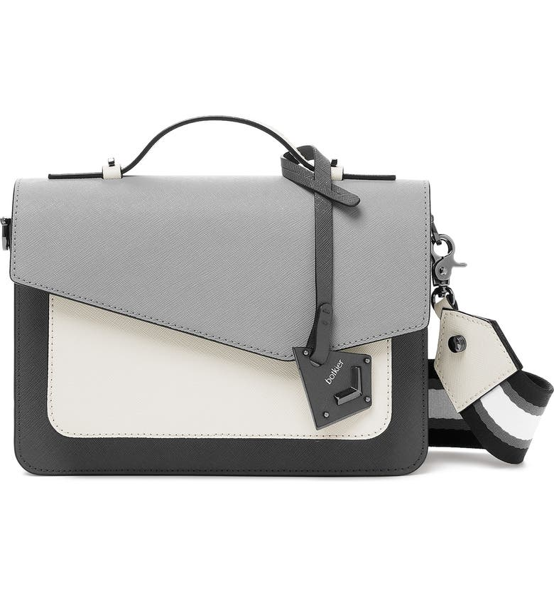 BOTKIER Cobble Hill Leather Crossbody Bag, Main, color, PEWTER COMBO