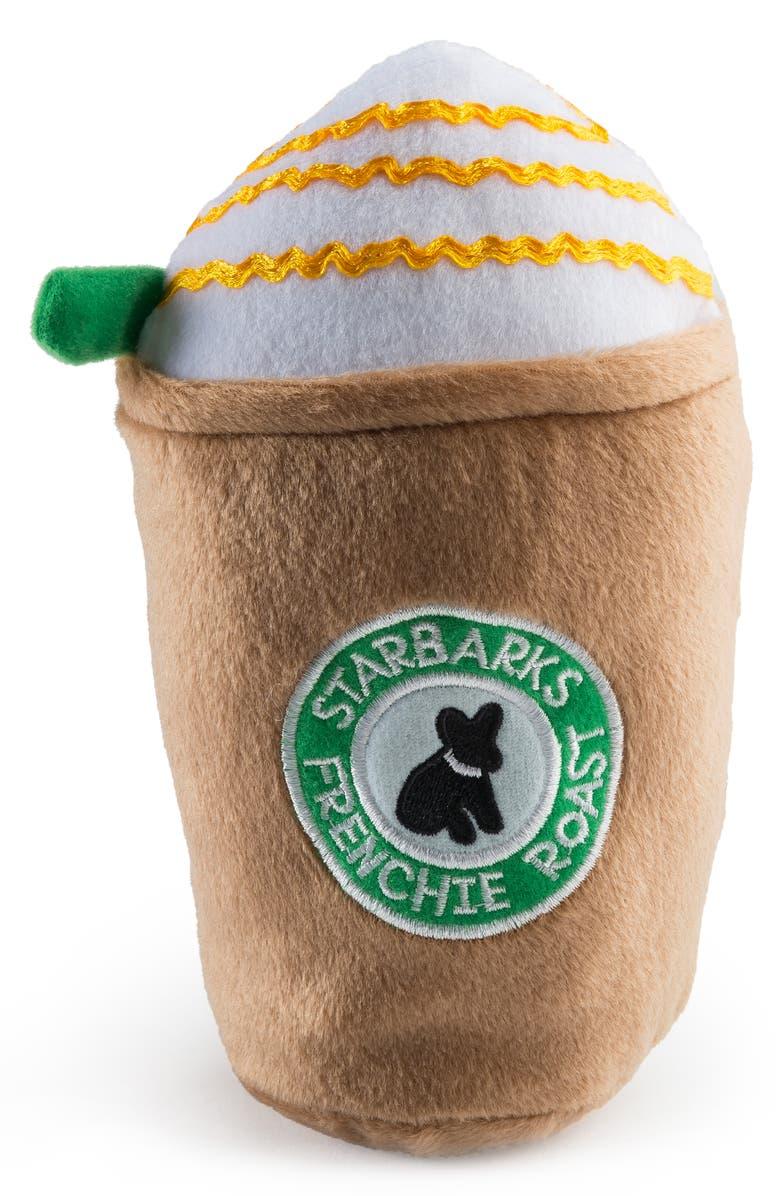 HAUTE DIGGITY DOG Starbarks Frenchi Roast Dog Toy, Main, color, BEIGE