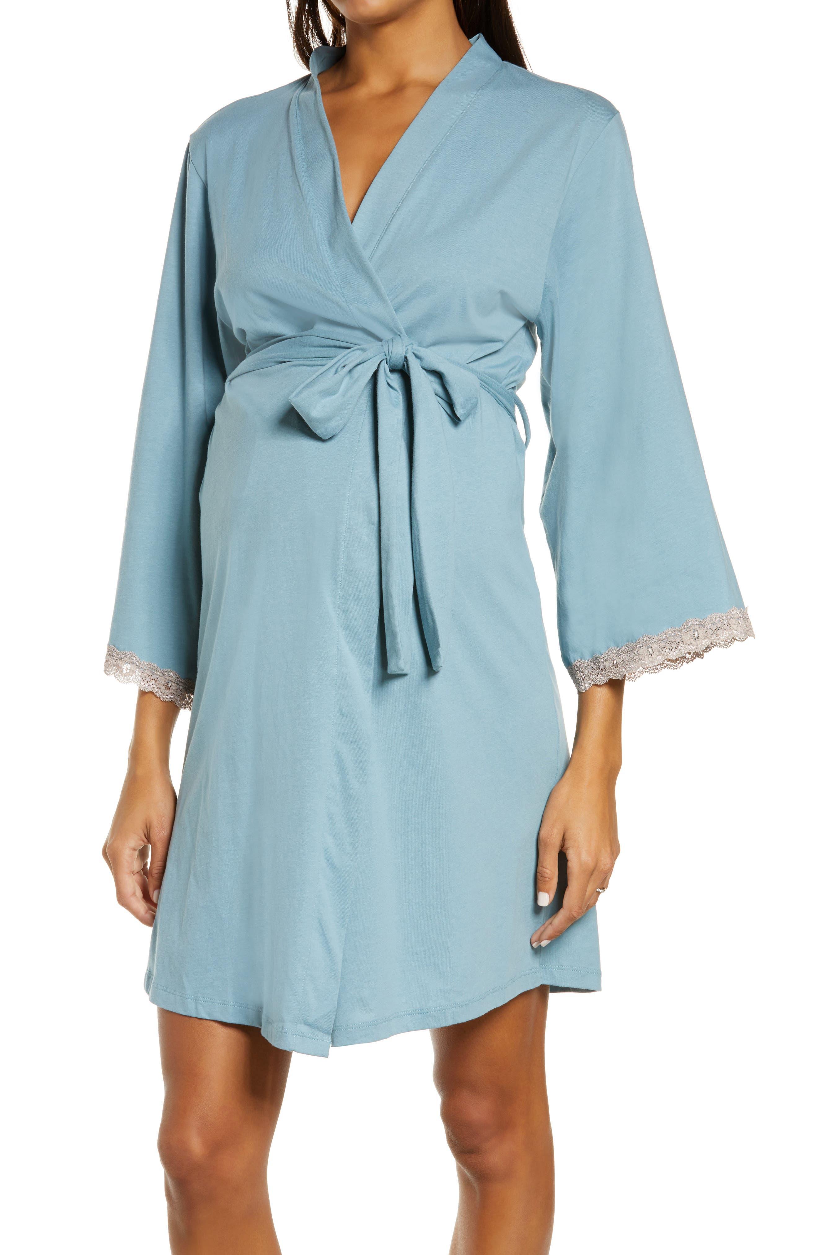 Plume Cotton Maternity/nursing Robe