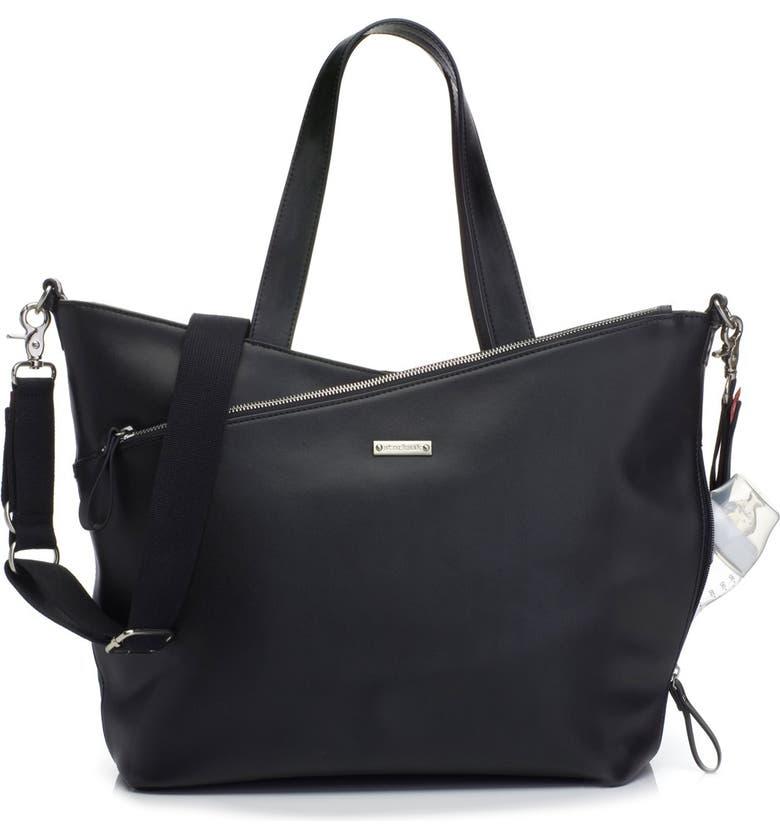 STORKSAK 'Lucinda' Diaper Bag Leather Tote, Main, color, 005