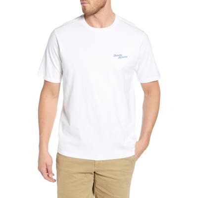Tommy Bahama First Class Flight Graphic T-Shirt, White
