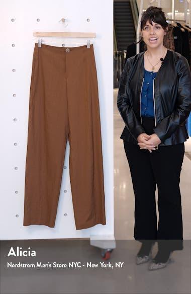Topstitch Seam Linen Blend Trousers, sales video thumbnail