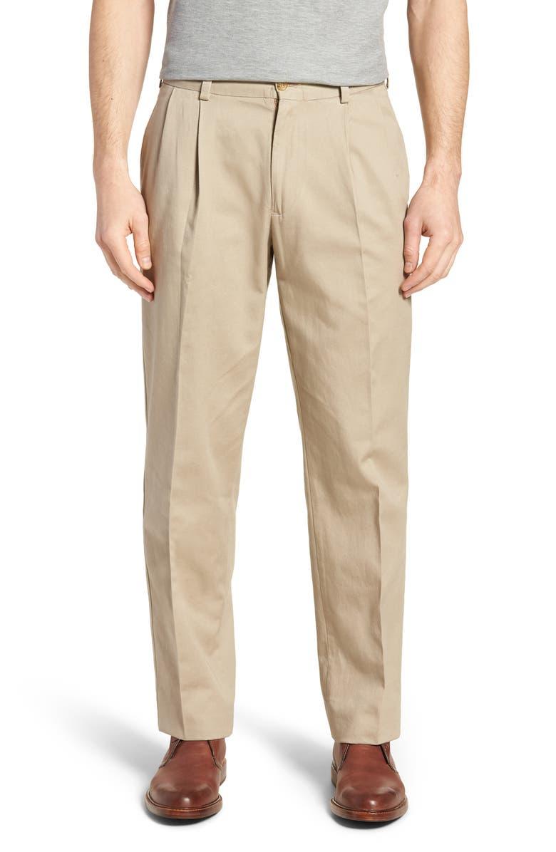 BILLS KHAKIS M2 Classic Fit Pleated Vintage Twill Pants, Main, color, KHAKI