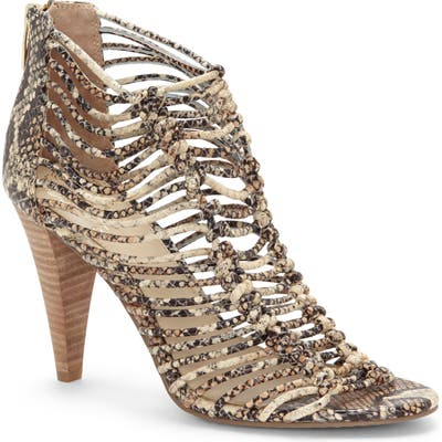 Vince Camuto Alsandra Strappy Cage Sandal, Brown