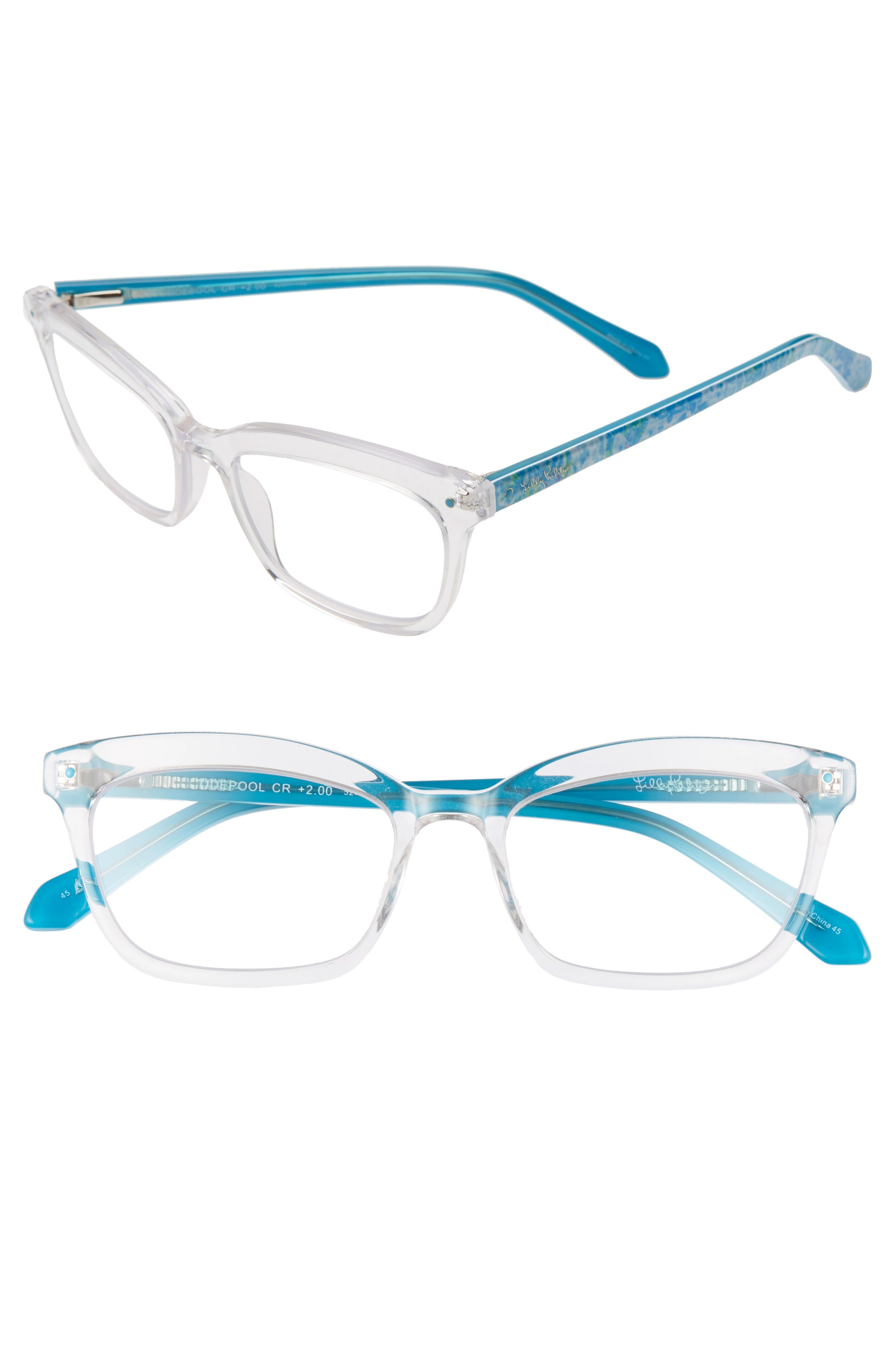 Grab a book and get ready for a day lounging seaside with these reading glasses in a classically chic silhouette. Style Name: Lilly Pulitzer Tidepool 52mm Reading Glasses. Style Number: 5984858. Available in stores.