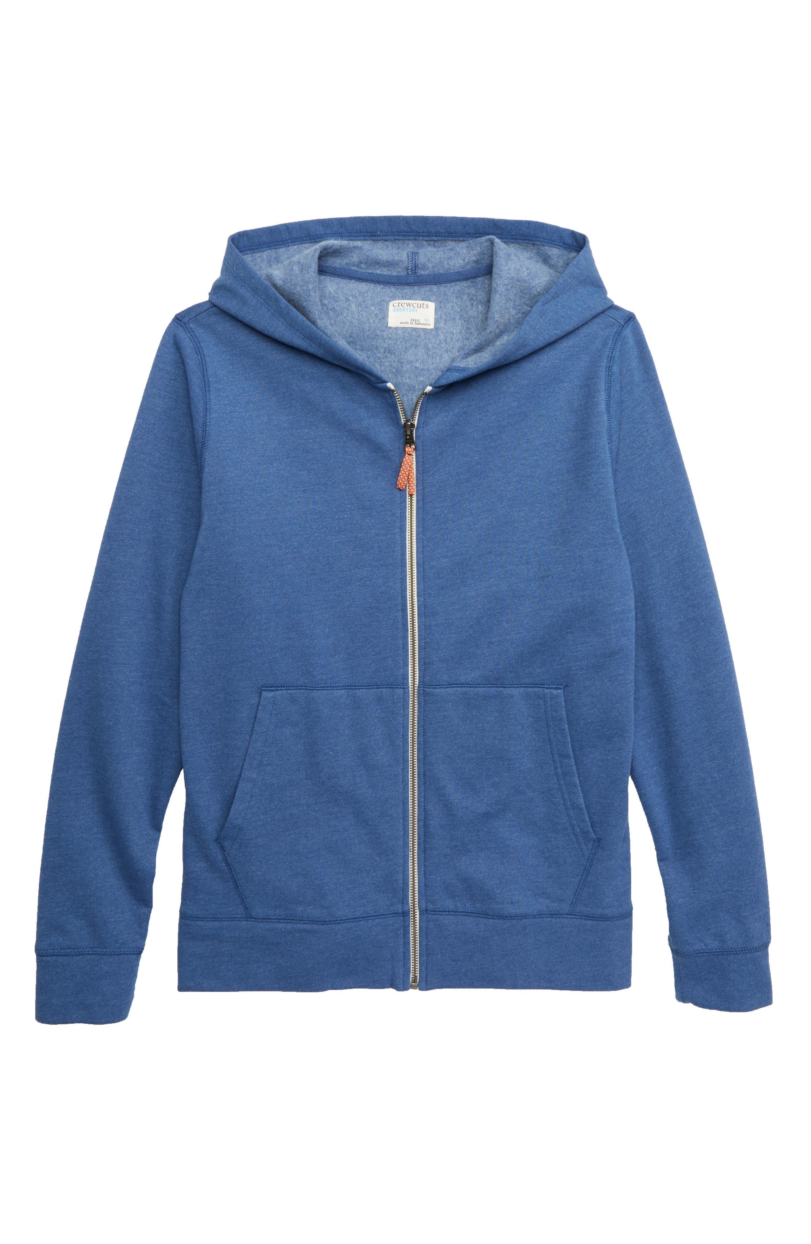 Boys Crewcuts By Jcrew Fleece Zip Hoodie Size 45  Blue